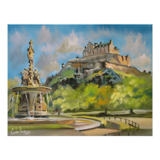 Arte de Gordon Bruce da pintura a óleo do castelo  Poster