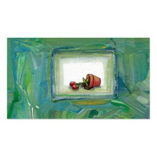 Arte de jardinagem da pintura da planta potted da  cartoes de visitas