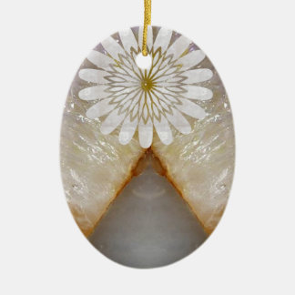 Arte de mármore de cristal do templo do vintage de ornamento de cerâmica oval