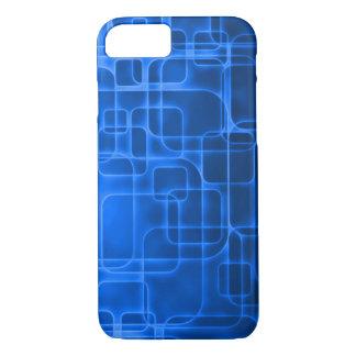 Arte de néon moderna do laser do azul capa iPhone 8/7