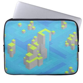 Arte de Trixel das ilhas do mar Capas Para Laptop