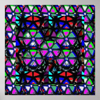 ARTE decorativa da faísca cor-de-rosa da ESTRELA Poster
