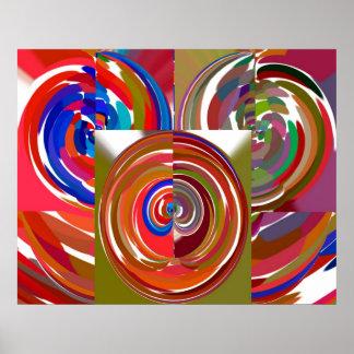 Arte decorativa do de alta energia - meditação V13 Poster