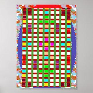 Arte decorativa elegante: Linhas abstratos dos qua Impressão