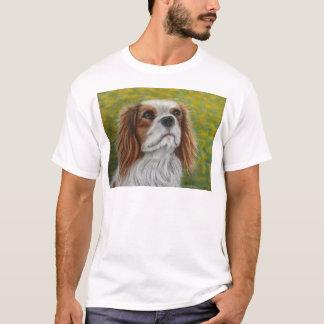 Arte descuidado do Spaniel de rei Charles - Addie T-shirt