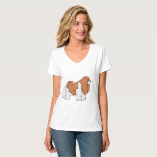 Arte descuidado do Spaniel de rei Charles Camisetas