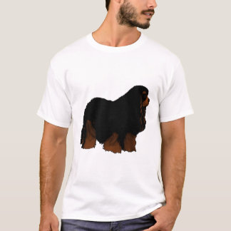 Arte descuidado do Spaniel de rei Charles T-shirt