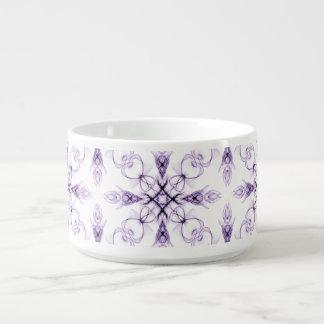 Arte desvanecida floral do Fractal da lavanda da Tigela De Sopa