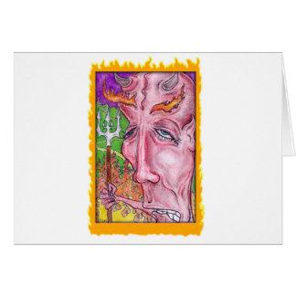 Arte diabólico por TEO Cartão Comemorativo