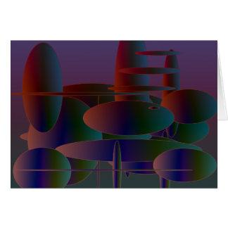 Arte digital moderna das elipses abstratas cartão
