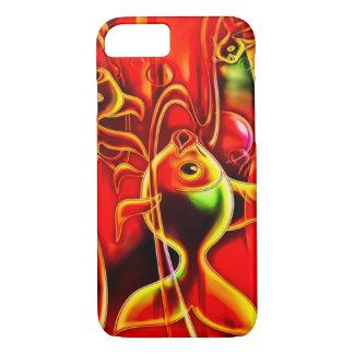 Arte do Airbrush dos peixes do ouro Capa iPhone 8/7