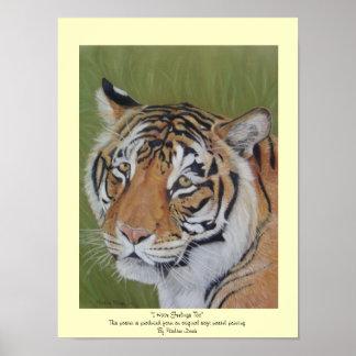 arte do animal do realista dos animais selvagens poster
