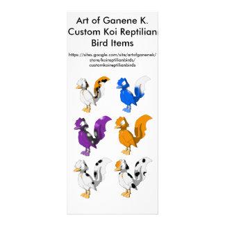 Arte do anúncio dos pássaros do Reptilian de 10.16 X 22.86cm Panfleto
