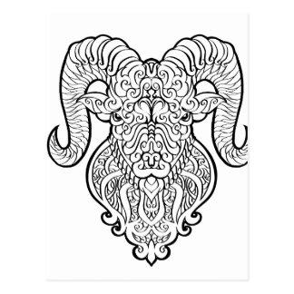 Arte do Aries Cartão Postal