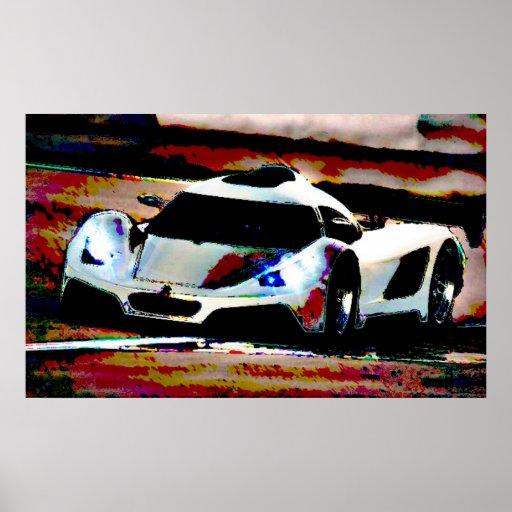 Arte do carro pôsteres
