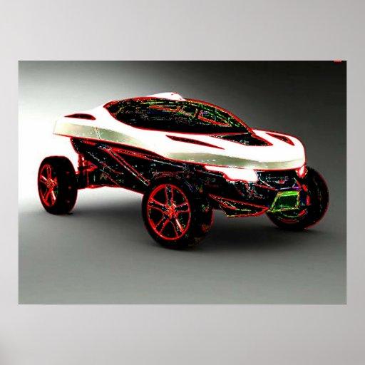 Arte do carro impressão