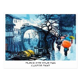Arte do chinês do vintage do cenário de Chou Xing Cartão Postal
