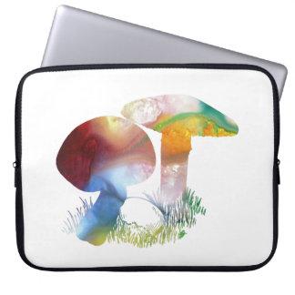 Arte do cogumelo sleeve para notebook