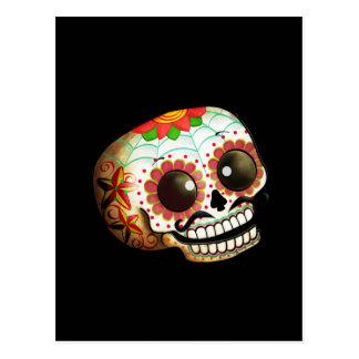 Arte do crânio de Diâmetro de Los Muertos Açúcar Cartão Postal