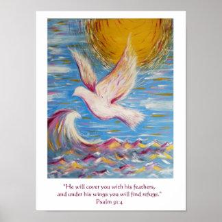 Arte do cristão do poster do salmo 91 pôster