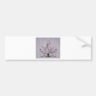 arte do design da árvore da flor do coração adesivo para carro