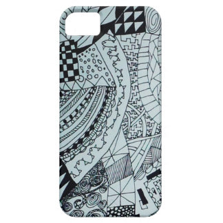 Arte do Doodle Capa Barely There Para iPhone 5