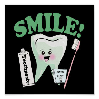 Arte do escritório do dentista do sorriso poster