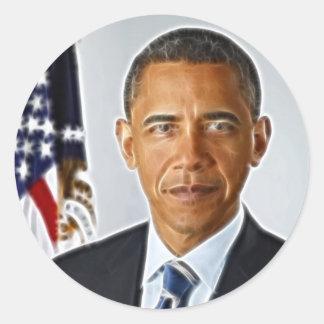 Arte do Fractal, retrato oficial Barack Obama Adesivo