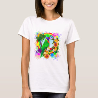 Arte do papagaio de Lorikeet do arco-íris Tshirt
