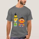 Arte do pixel de Bert e de Ernie Camiseta