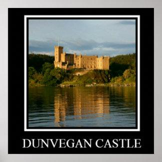Arte do poster de Scotland do castelo de Dunvegan