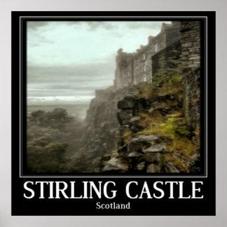 Arte do poster de Scotland do castelo de Stirling