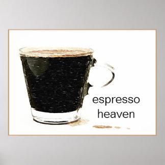 Arte do poster do céu do café