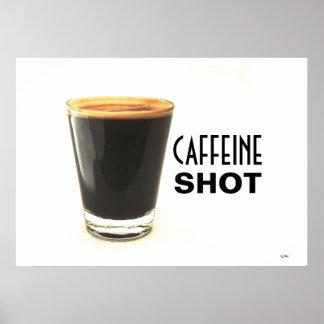 Arte do poster do tiro da cafeína