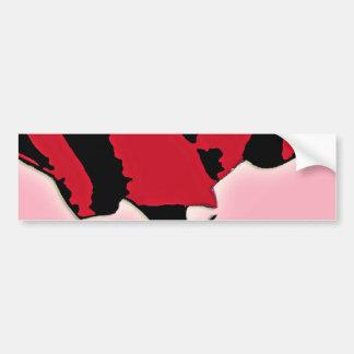 Arte do rosa do vermelho e do rosa adesivo para carro