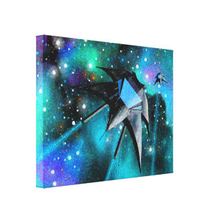 """""""Arte do Scifi dos lutadores da estrela"""" em canvas"""