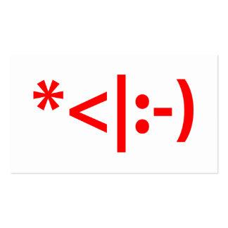 Arte do texto do Xmas ASCII do Emoticon do duende Cartão De Visita