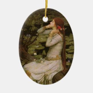 Arte do Victorian, Ophelia pela lagoa pelo Ornamento De Cerâmica Oval