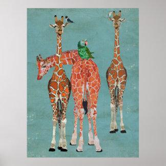 Arte dos GIRAFAS & das PENAS Poster