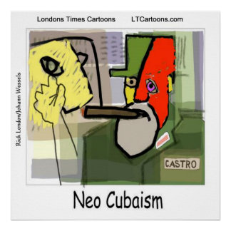 Arte engraçada Castro do Cubist Poster