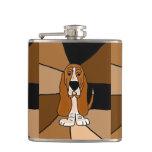 Arte engraçada do cão de Basset Hound