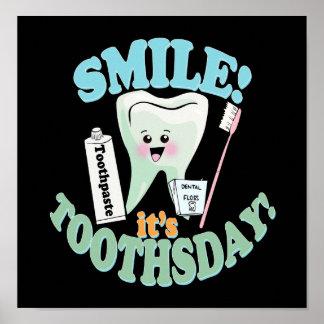 Arte engraçada do escritório do dentista poster