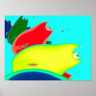 Arte estranha do Fractal da multa da fruta Poster