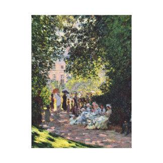 Arte fina do impressionismo de Monceau Monet do