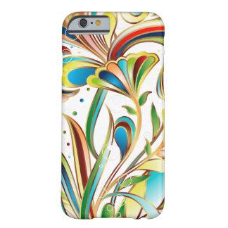 Arte floral colorida abstrato do vetor capa barely there para iPhone 6