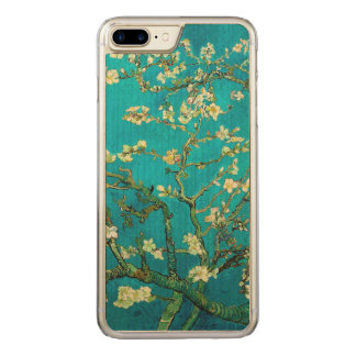 Arte floral de florescência da árvore de amêndoa capa iPhone 7 plus carved