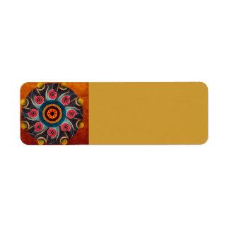 Arte floral do vetor do abstrato da cor etiqueta endereço de retorno