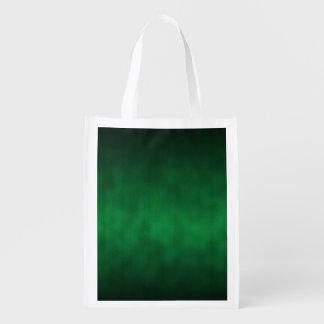 Arte gótico verde do fundo de Ombre Sacolas Ecológicas