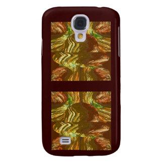 Arte gráfica de cristal dourada capas personalizadas samsung galaxy s4