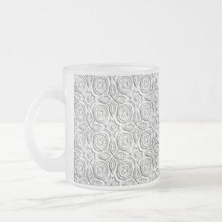 Arte gravada caneca de café vidro jateado